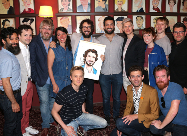 The cast and creative team of The Great Comet help Josh Groban celebrate his honor.