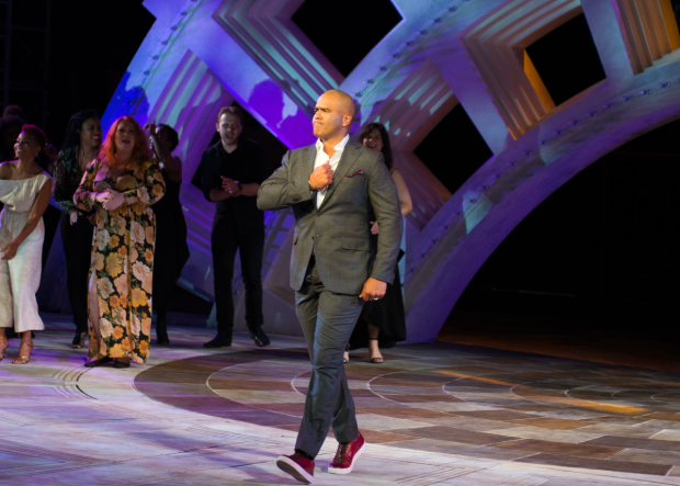Christopher Jackson performed at The Public Theater's annual gala, Hair to Hamilton, 50 Years of Revolutionary Musicals, at the Delacorte Theater.