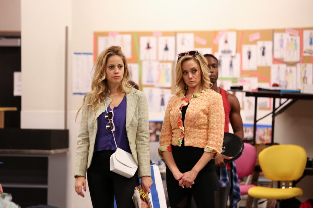 Cortney Wolfson and Stephanie Renee Wall costar as Romy and Michele in the world-premiere musical Romy and Michele's High School Reunion.