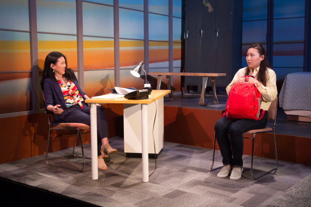 Jeena Yi and Michelle Heera Kim star in Chisa Hutchinson's Somebody's Daughter, directed by May Adrales, for 2ST Uptown at the McGinn/Cazale Theater.