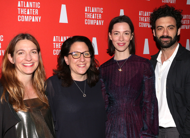 Gaye Taylor Upchurch, Clare Lizzimore, Rebecca Hall, and Morgan Spector celebrate the opening of Animal.