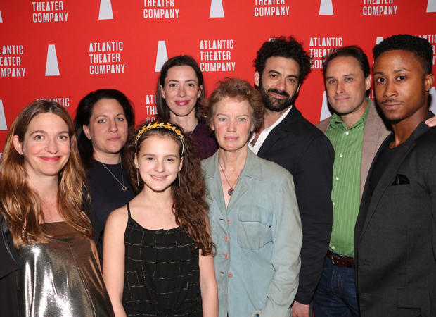 The family of Animal: Gaye Taylor Upchurch, Clare Lizzimore, Fina Strazza, Rebecca Hall, Kristin Griffith, Morgan Spector, Greg Keller, and David Pegram.