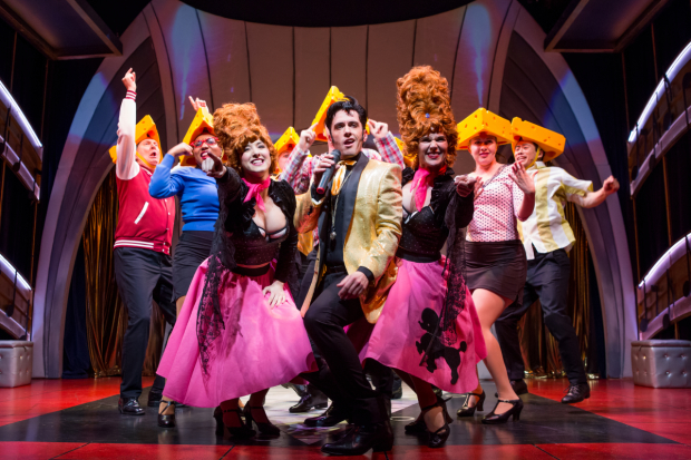 A scene from Attack of the Elvis Impersonators, directed by Don Stephenson, at The Lion Theatre.