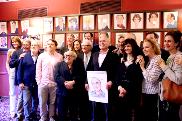 Roundabout Theater's Todd Haimes was surrounded by friends and colleagues while receiving his portrait at Sardi's.