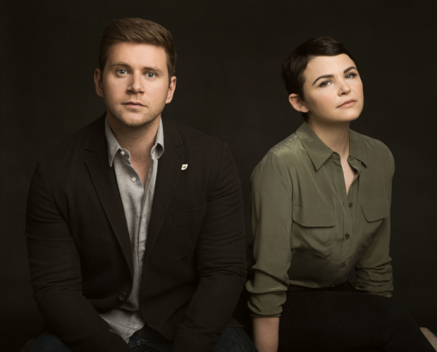 Allen Leech and Ginnifer Goodwin costar as Roland and Marianne in Nick Payne's Constellations, directed by Giovanna Sardelli, at the Geffen Playhouse.