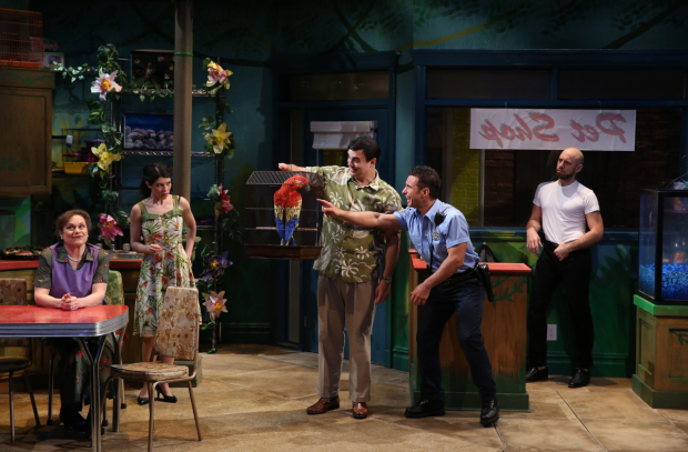 Anita Hollander, Alyssa H. Chase, David Harrell, Rob Minutoli, and Anthony Michael Lopez star in Charles Ludlam's The Artificial Jungle, directed by Everett Quinton, from Theatre Breaking Through Barriers at Theatre Row.