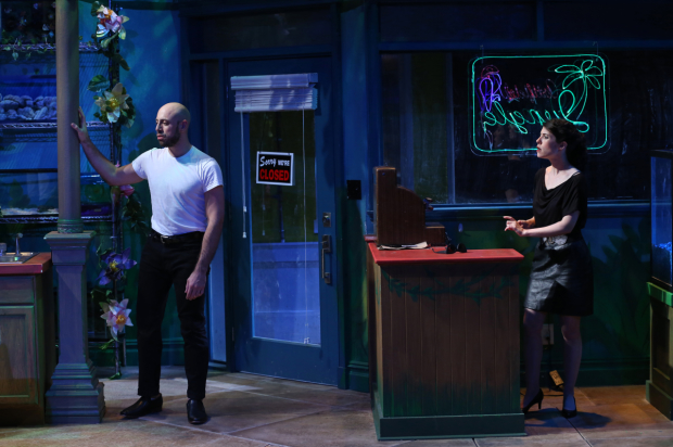 Anthony Michael Lopez plays Zach, and Alyssa H. Chase plays Roxanne in The Artificial Jungle.