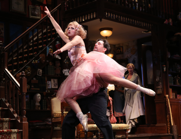 Annaleigh Ashford and Kristine Nielsen (background) starred in the 2014 Broadway revival of You Can't Take It With You. They reunite in the Shakespeare in the Park production of A Midsummer Night's Dream, with Ashford as Helena and Nielsen as Puck.