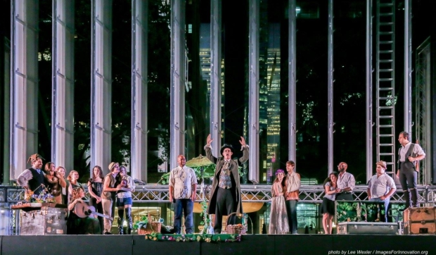 The Drilling Company presented As You Like It in Bryant Park last summer.