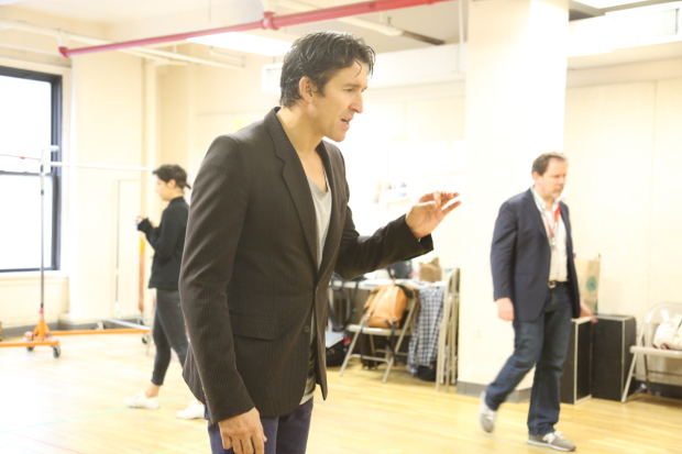 Jonathan Cake rehearses the role of Vincento in Measure for Measure, directed by Simon Godwin.