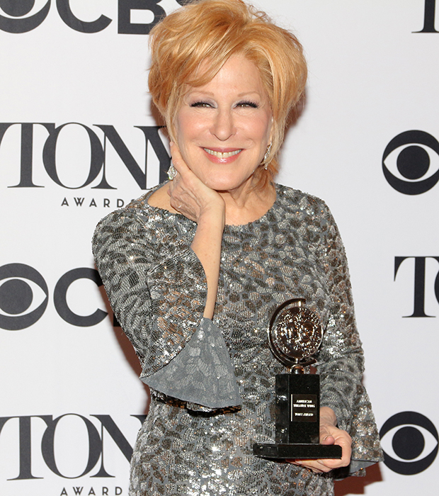 "Bette Midler with her Tony Award for ''Hello, Dolly!""'"
