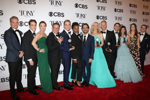 The cast and creative team behind Broadway's Dear Evan Hansen celebrates the show's six 2017 Tony Awards.