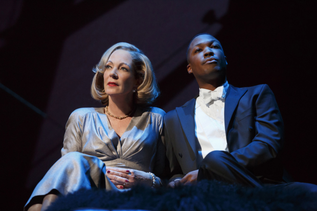 Allison Janney and Corey Hawkins in John Guare's Six Degrees of Separation.