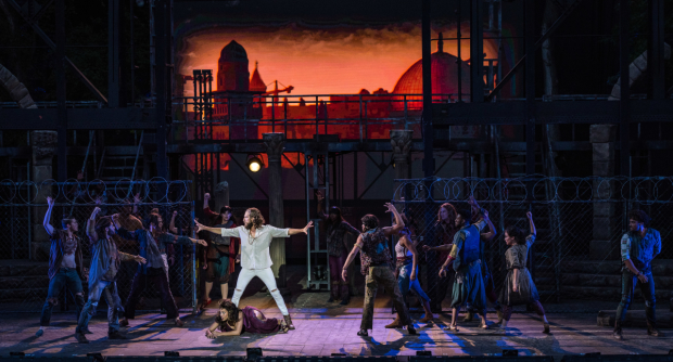 The cast of Jesus Christ Superstar, directed by Gordon Greenberg, at The Muny.