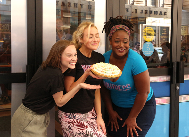 The pies are steaming at Broadway's Waitress.