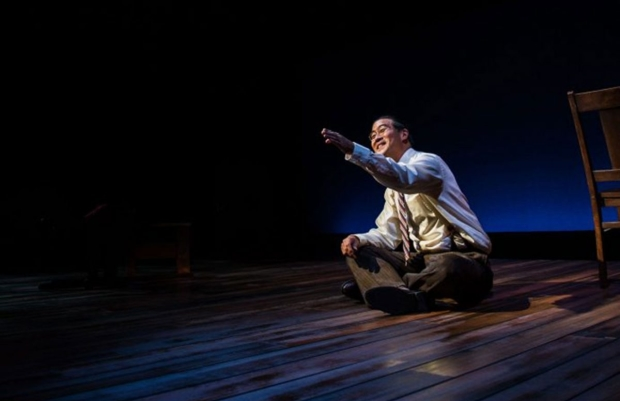 Ryan Yu as Gordon Hirabayashi in Hold These Truths, directed by Jessica Kubzansky, at Pasadena Playhouse.