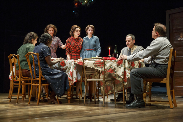 A scene from Napoli, Brooklyn, directed by  Gordon Edelstein, at the Laura Pels Theatre.