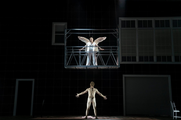 Kirsten Chambers and Andrew Garland in the opera Angels in America at Rose Hall.
