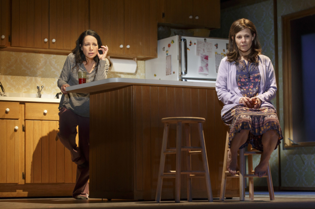 Janeane Garofalo and Lili Taylor star in Marvin's Room, directed by Anne Kauffman, at the American Airlines Theatre.