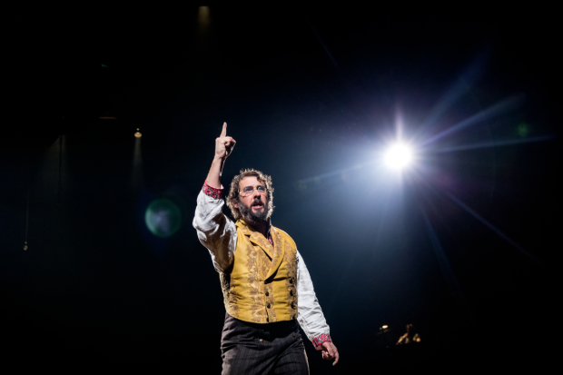 Josh Groban in Broadway's The Great Comet at the Imperial Theatre.