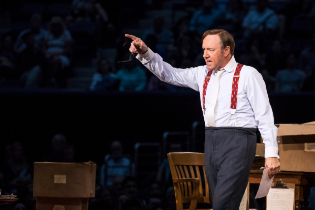 Kevin Spacey stars as Clarence Darrow in his solo show at Arthur Ashe Stadium.