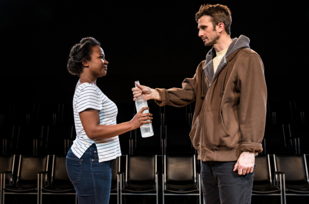 Eboni Booth and Frederick Weller star in Fulfillment Center, directed by Daniel Aukin, at New York City Center.