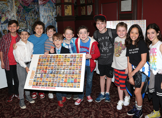 The kids of Broadway celebrate the Lights of Broadway show cards.