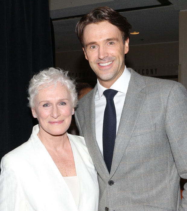 Glenn Close and Michael Xavier pose together.