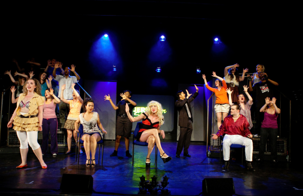 A scene from a 2009 Edinburgh Festival production of Jerry Springer — The Opera.