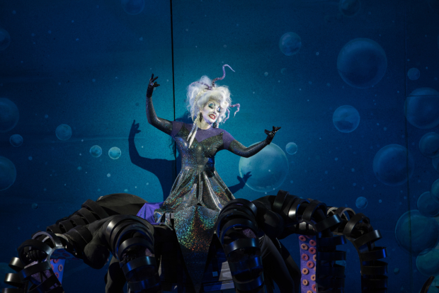Emily Skinner as Ursula in The Little Mermaid at the Muny.