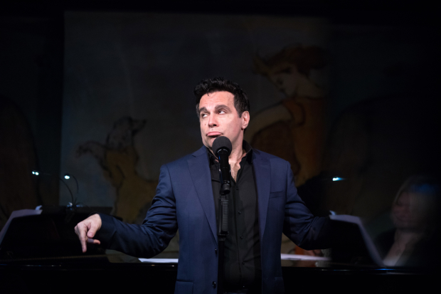 Mario Cantone performs at the Café Carlyle.