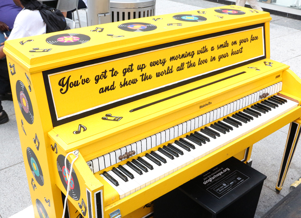 The Beautiful: The Carole King Musical piano at Penn Plaza East.