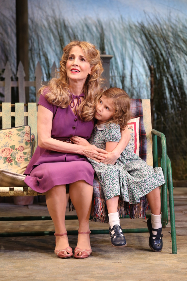 Jean Lichty and Korinne Tetlow star in the off-Broadway revival of Horton Foote's The Traveling Lady, directed by Austin Pendleton, at the Cherry Lane Theatre.