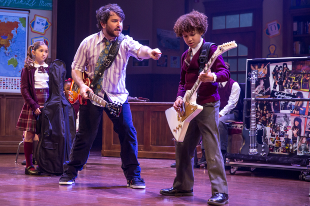 Original School of Rock cast member Brandon Niederauer (right) will graduate from the Broadway ensemble on July 30.