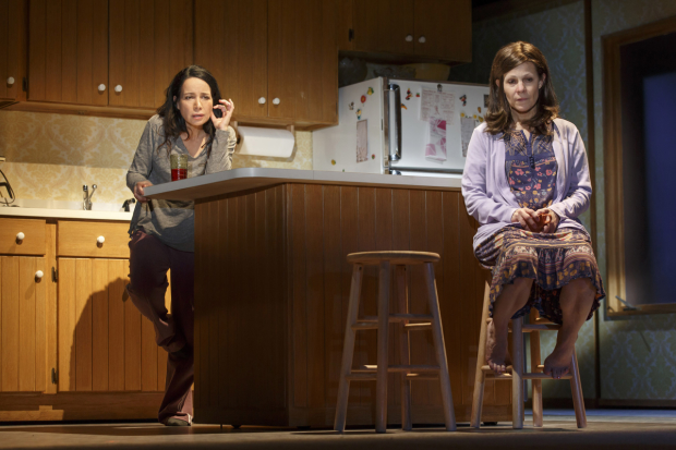 Janeane Garofalo plays Lee and Lili Taylor plays Bessie in the Broadway revival of Scott McPherson's Marvin's Room.
