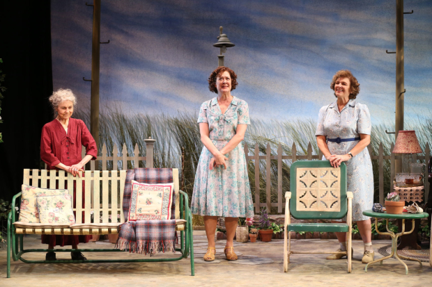 Lynn Cohen, Karen Ziemba, and Angelina Fiordellisi in the revival of Horton Foote's The Traveling Lady at Cherry Lane Theatre