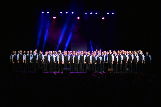 San Francisco's Gay Men's Chorus performed.