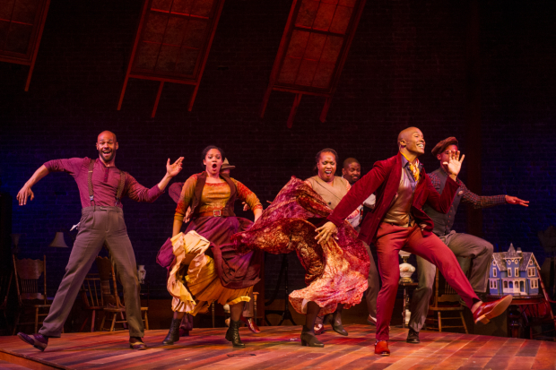 Colehouse and the Residents of Harlem in one of the show exuberant, ragtime-inspired numbers.