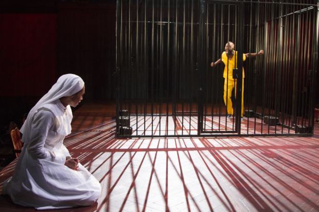 An onstage scene from Measure for Measure.