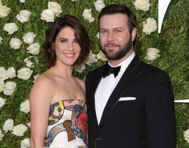 Cobie Smulders and Taran Killam at the 2017 Tony Awards.