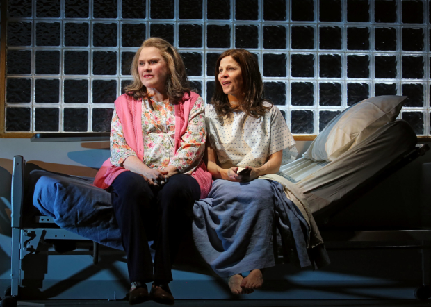 Celia Weston plays Ruth, and Lili Taylor plays Bessie in Marvin's Room on Broadway.