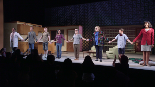 The cast of Marvin's Room takes a bow on Broadway.