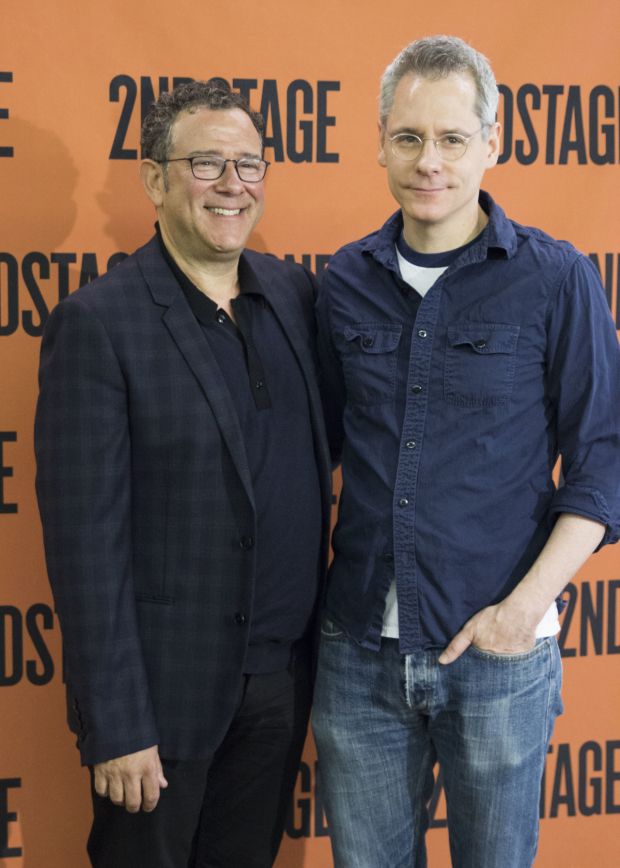 Director Michael Greif stops for a photo with playwright Bruce Norris.