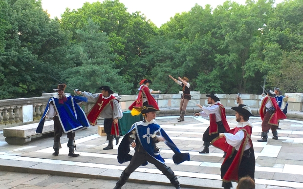 The cast of The Three Musketeers performs one of Nathan Oesterle's fight sequences.