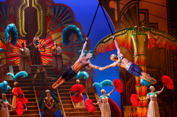 A scene from Cirque du Soleil Paramour at Broadway's Lyric Theatre.