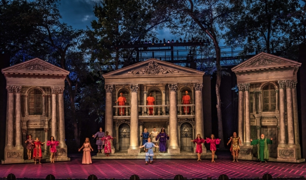 A Funny Thing Happened on the Way to the Forum, directed by Gary Griffin, plays at The Muny.