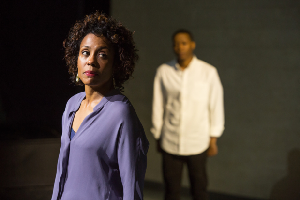 Karen Pittman as Nya in Dominique Morisseau's Pipeline at the Mitzi E. Newhouse Theater.