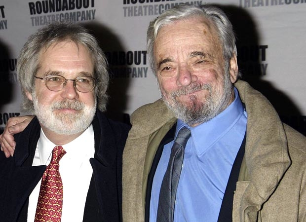 John Weidman, book writer of Assassins, with composer/lyricist Stephen Sondheim in 2004.