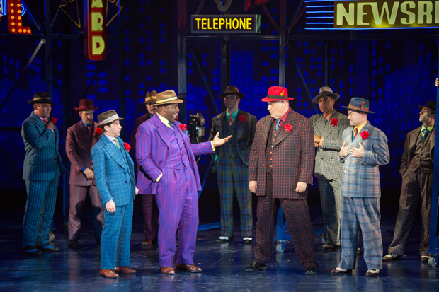 A scene from Guys and Dolls, directed by Josh Rhodes, at The Old Globe.