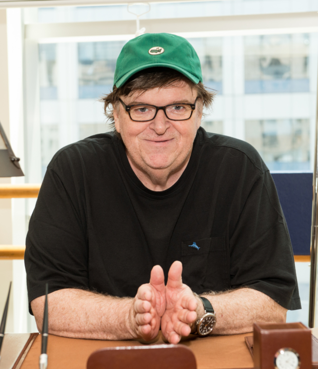 Michael Moore stars in The Terms of My Surrender, directed by Michael Mayer, at the Belasco Theatre.